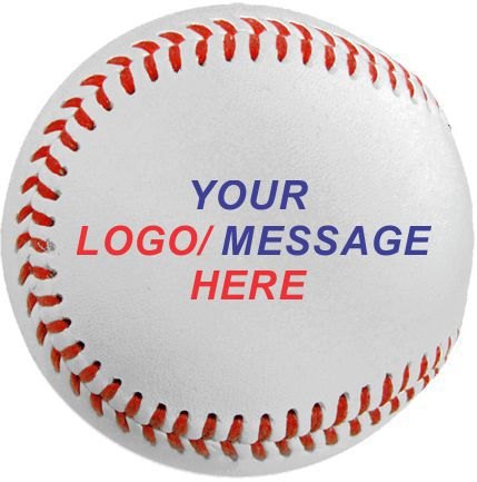 custom printed baseballs color logo