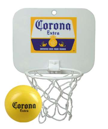 custom imprinted mini basketball backboards