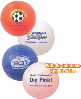 custom imprinted mini-volleyballs
