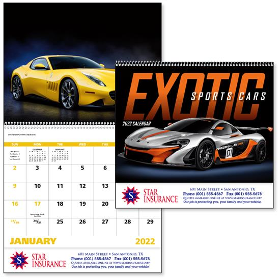 Exotic Sports Cars calendars